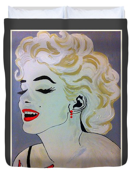 Marilyn Monroe Beautiful Duvet Cover by Saundra Myles