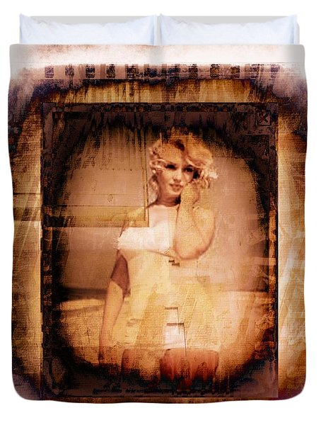 Duvet Cover featuring the photograph Marilyn Monroe Film by Ericamaxine Price