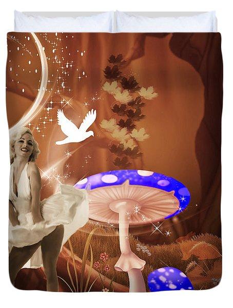Marilyn Monroe In Fantasy Land Duvet Cover by EricaMaxine  Price