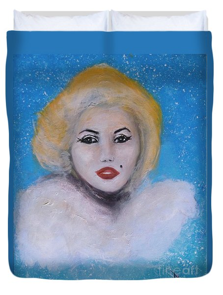Marilyn Monroe Out Of The Blue Into The White Duvet Cover