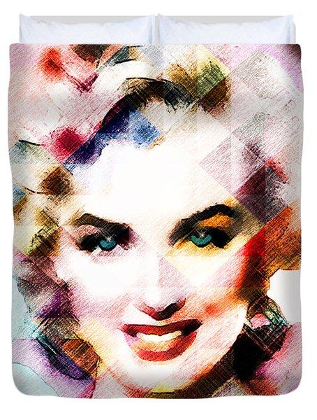 Marilyn Monroe Pastel Duvet Cover