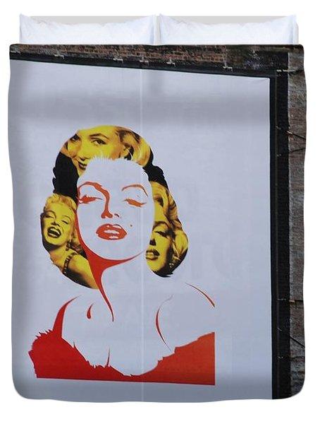 Marilyn Monroe Duvet Cover by Rob Hans