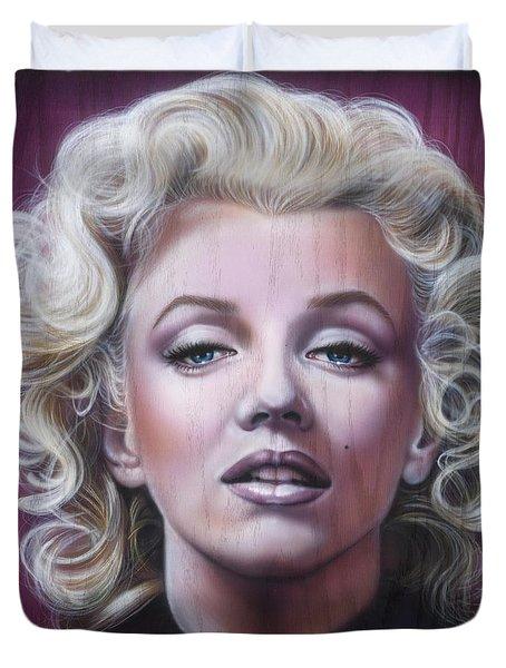 Marilyn Monroe Duvet Cover by Timothy Scoggins