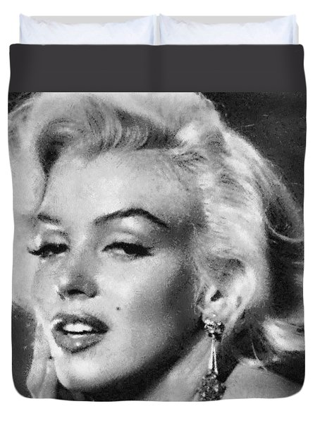 Beautiful Marilyn Monroe Unique Actress Duvet Cover by Georgi Dimitrov