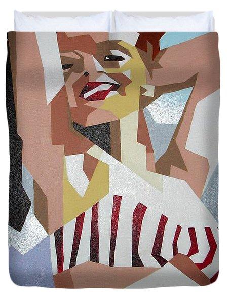 Marilyn Duvet Cover by Tracey Harrington-Simpson