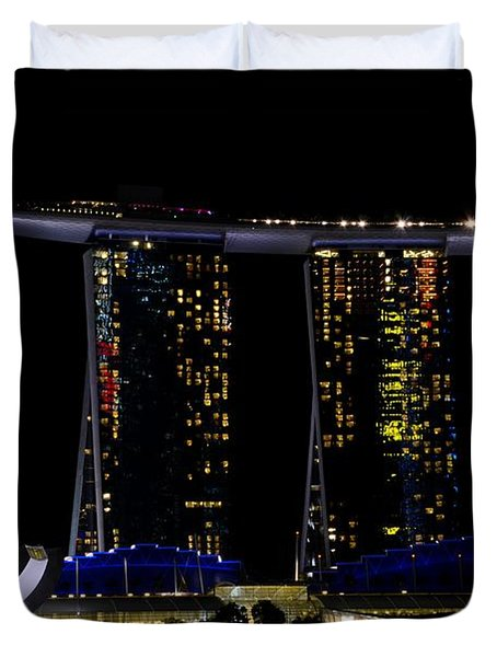 Marina Bay Sands Integrated Resort Hotel And Casino And Artscience Museum Singapore Marina Bay Duvet Cover