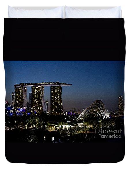 Marina Bay Skyline Duvet Cover