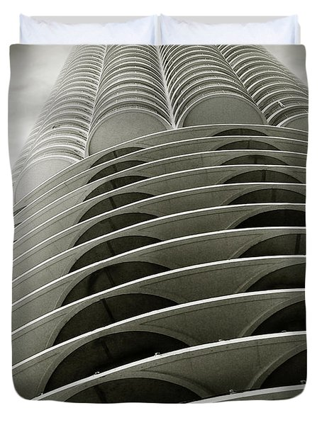 Marina City Chicago Il Duvet Cover by Christine Till