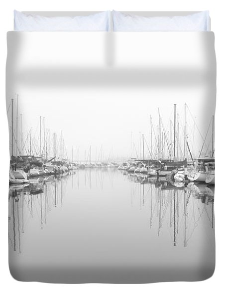 Duvet Cover featuring the photograph Marina - High Key by Heidi Smith