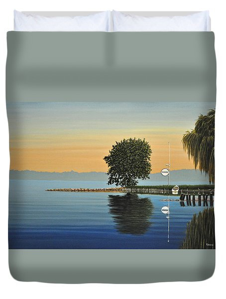 Marina Morning Duvet Cover