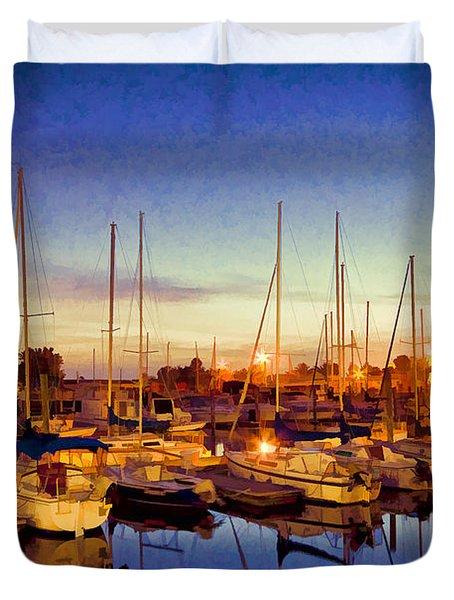 Marina Sunrise Duvet Cover