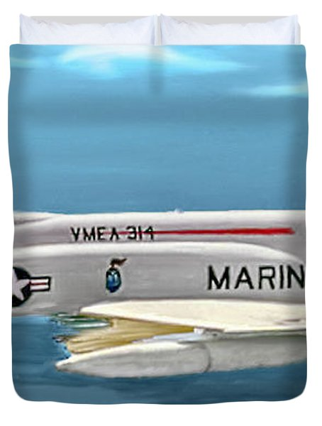Marine F-4 Phantom  Painting Duvet Cover