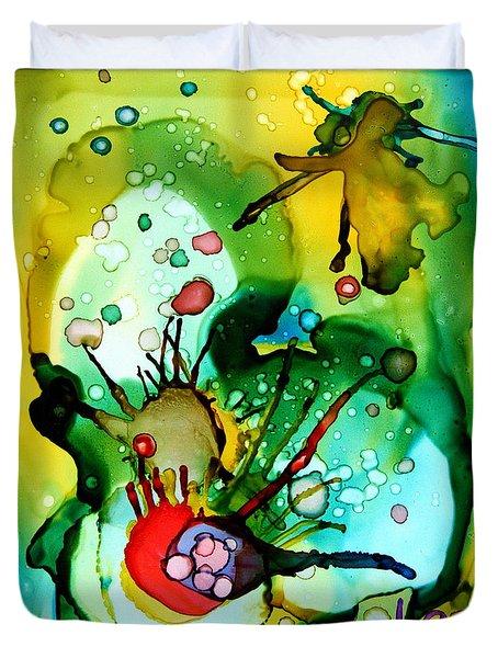 Marine Habitats Duvet Cover by Jolanta Anna Karolska