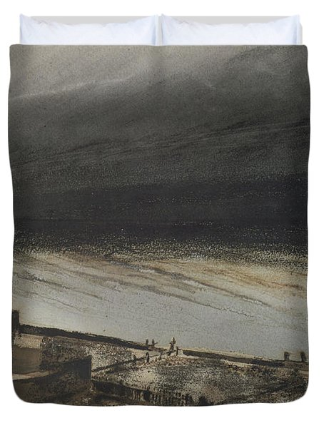 Marine Terrace In Jersey Duvet Cover by Victor Hugo