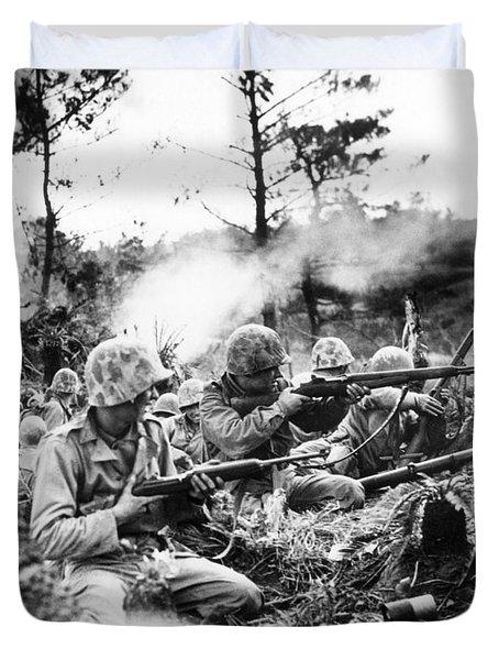 Marines In Okinawa Duvet Cover