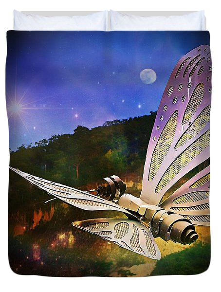 Mariposa Galactica Duvet Cover