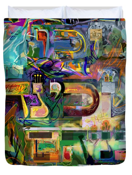 Marital Harmony 54 Duvet Cover by David Baruch Wolk