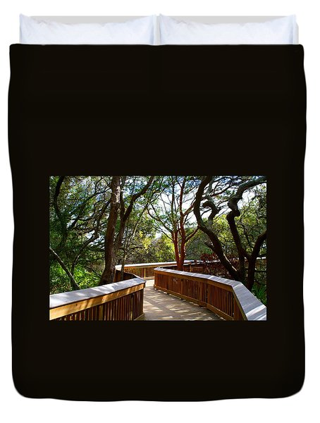 Maritime Forest Boardwalk Duvet Cover
