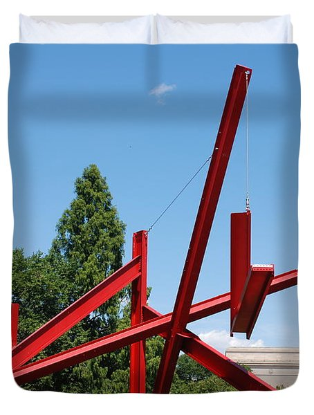 Mark Di Suvero Steel Beam Sculpture Duvet Cover