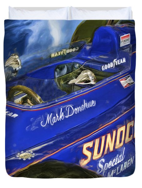 Mark Donohue 1972 Indy 500 Winning Car Duvet Cover