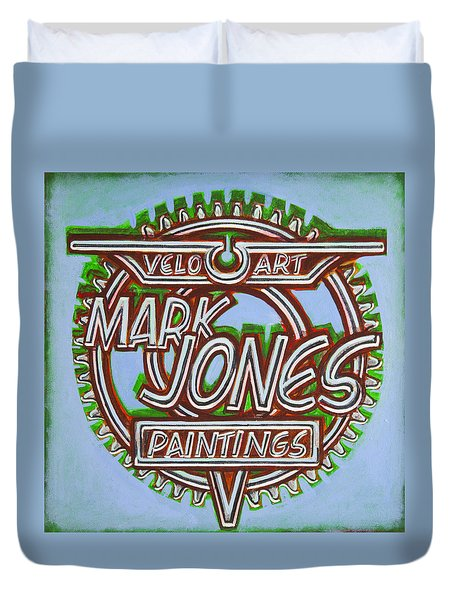 Mark Jones Velo Art Painting Blue Duvet Cover