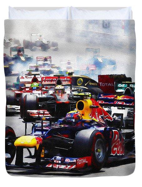 Mark Webber Duvet Cover