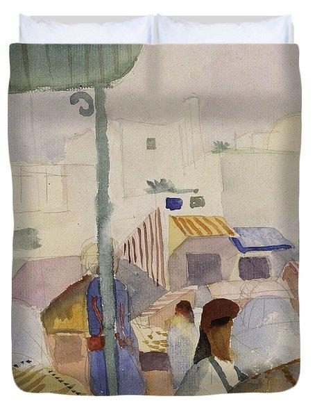 Market In Tunis II Duvet Cover