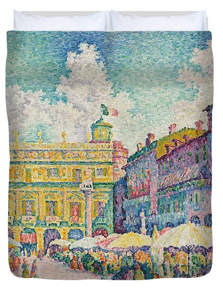 Market Of Verona Duvet Cover