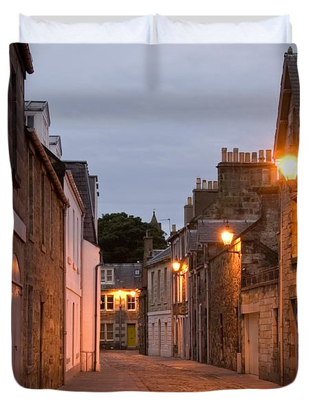 Duvet Cover featuring the photograph Market Street At Dusk by Jeremy Voisey