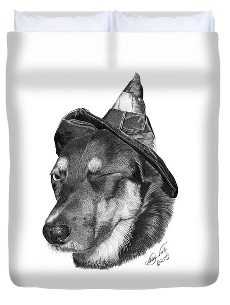 Marlee In Witch's Hat -021 Duvet Cover by Abbey Noelle