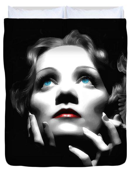 Marlene Dietrich Portrait Duvet Cover