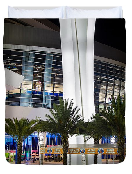 Marlins Park Stadium Miami 5 Duvet Cover by Rene Triay Photography