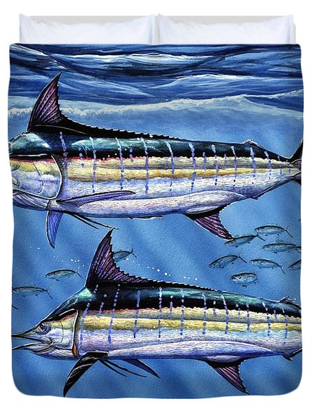 Marlins Twins Duvet Cover