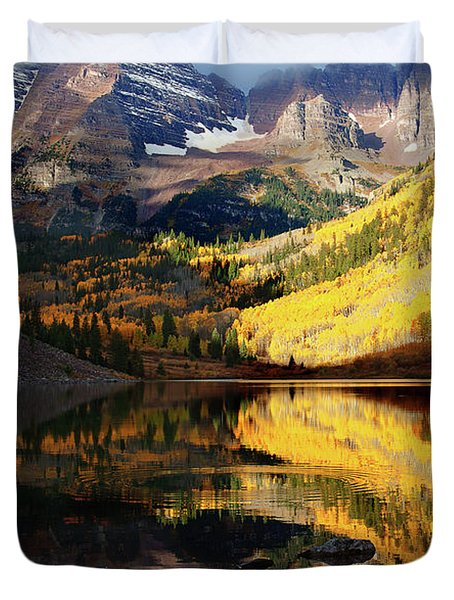 Maroon Bells Autumn Duvet Cover