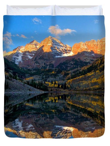 Maroon Bells Landscape Duvet Cover