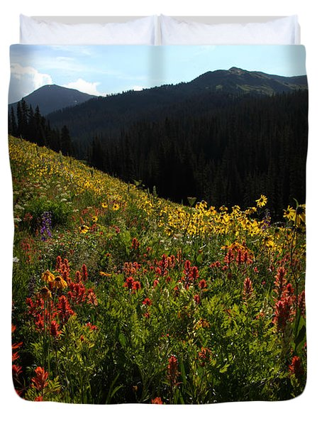 Maroon Bells Wilderness Duvet Cover