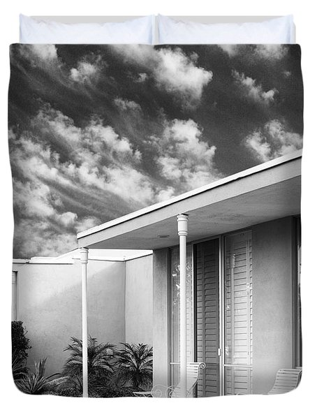 Marrakesh Lounge Bw Palm Springs Duvet Cover by William Dey