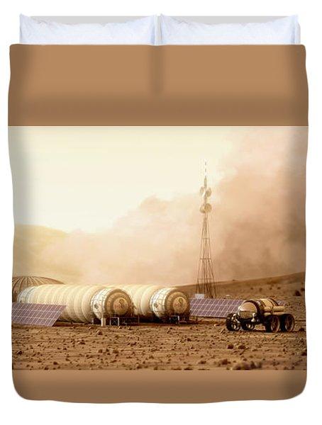 Mars Dust Storm Duvet Cover by Bryan Versteeg