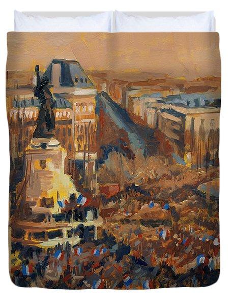 Mars Je Suis Charlie 11 Janvier 2015 Duvet Cover
