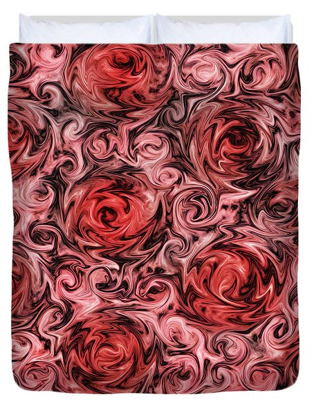 Duvet Cover featuring the digital art Marsala Roses by Patricia Lintner