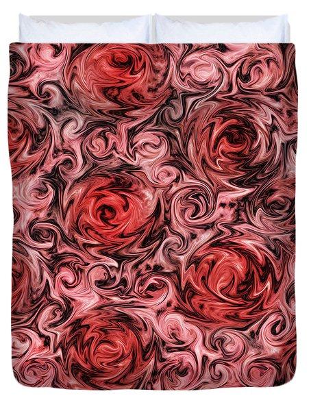 Marsala Roses Duvet Cover