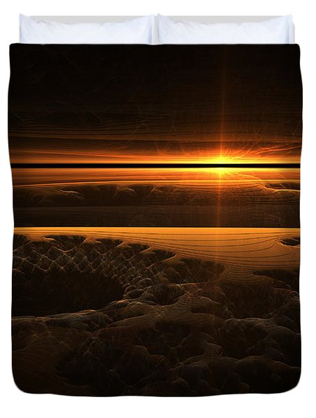 Marscape Duvet Cover by GJ Blackman
