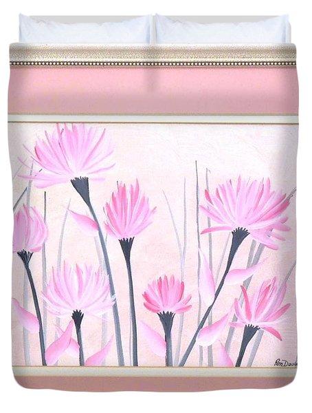 Marsh Flowers Duvet Cover by Ron Davidson