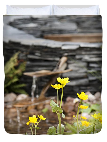 Marsh Marigolds Duvet Cover by Anne Gilbert