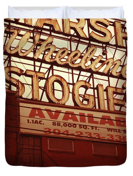 Marsh Stogies Sign Duvet Cover