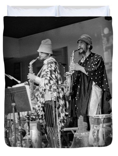 Marshall Allen And Danny Davis Duvet Cover by Lee  Santa