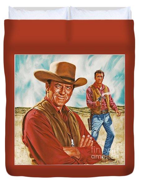 Marshall Mat Dillon Duvet Cover by Dick Bobnick