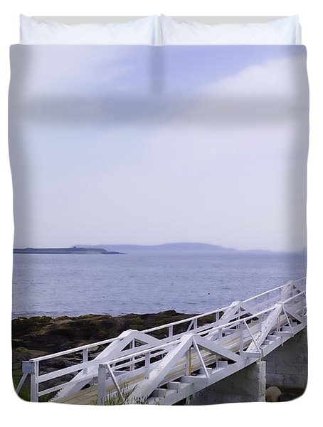 Marshall Point Light 1 Stylized Duvet Cover by Patrick Fennell