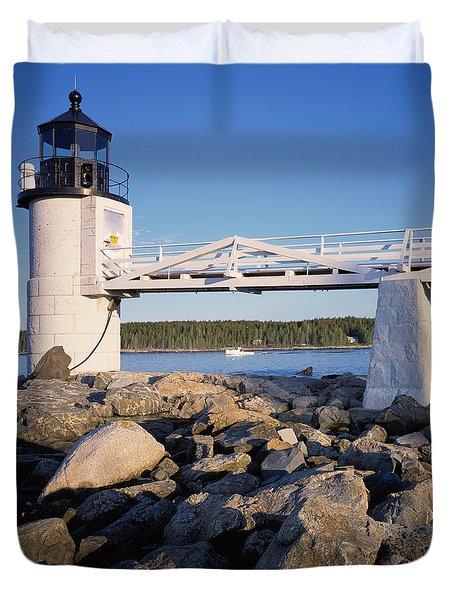 Marshall Point Light-sq Duvet Cover