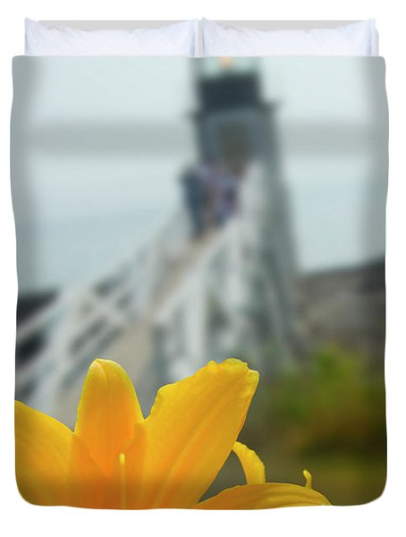 Marshall Point Lighthouse  Duvet Cover by Mike McGlothlen